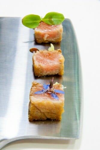 Corte de atún rojo