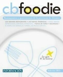 Portada de CbFoodie 2015: Restaurantes y gastronomía de la provincia de Alicante
