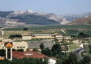 Vista de las Bodegas Roda, en La Rioja