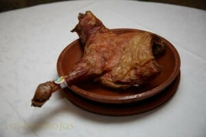 Lechazo churro palentino