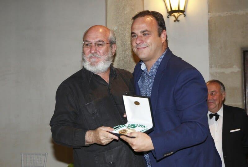 Ángel León con Fernando Huidobro