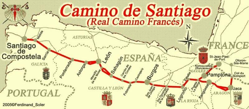 Ruta del Camino de Santiago francés