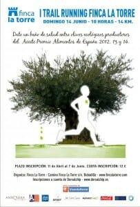 Cartel Carrera entre olivos