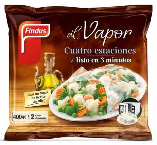 Verduras al vapor de Findus, listas para tomar en 3 minutos