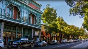 Calle principal de Santa Helena
