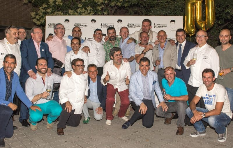 Andrea Tumbarello, arropado en el décimo aniversario de su restaurante en Madrid
