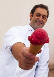 Fernando Sáenz, chef heladero
