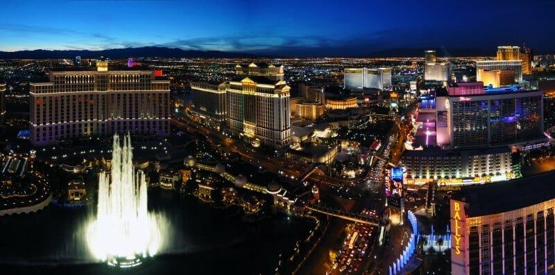 Vista aérea del strip de Las Vegas