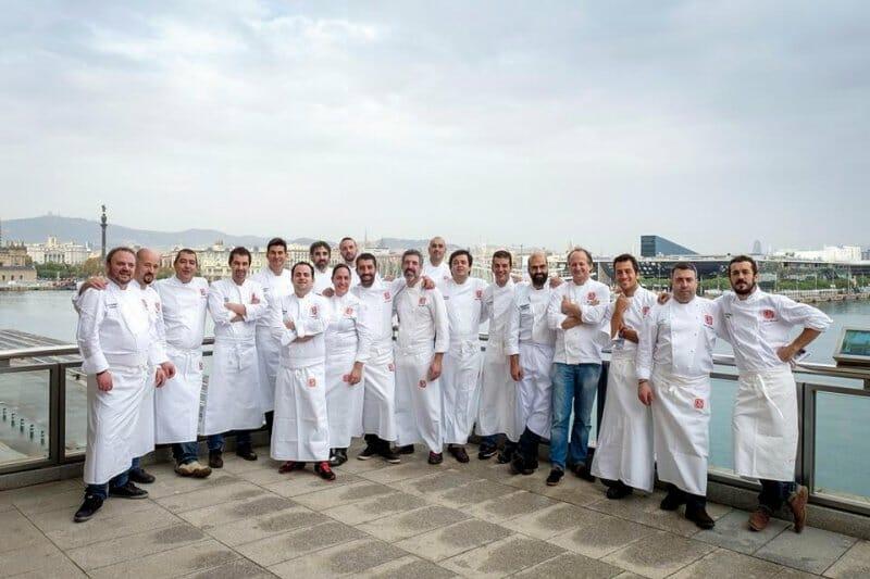 Foto de familia de los chefs del Grupo Nove