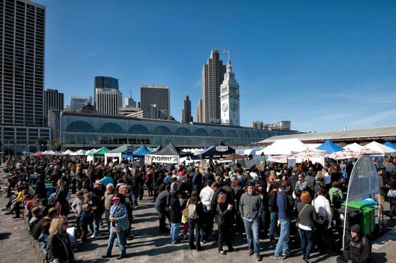 Mercado de los sábados en Ferry Building