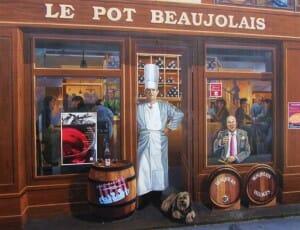 Decoración de una fachada con Paul Bocuse