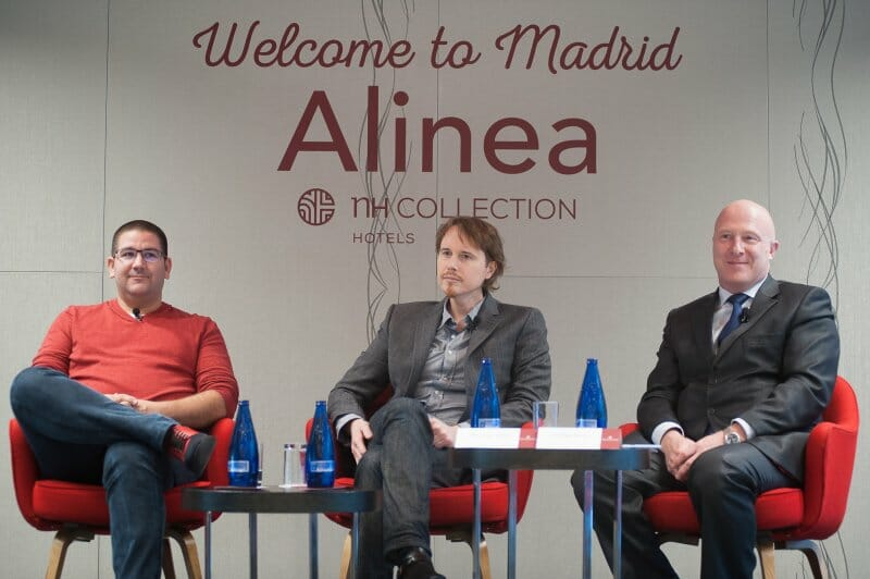 Grant Achatz durante la presentación de Alinea en Madrid