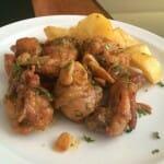 Pollo al ajillo Minchu
