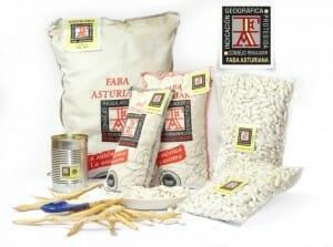 Faba Asturiana IGP, envasada y con etiqueta