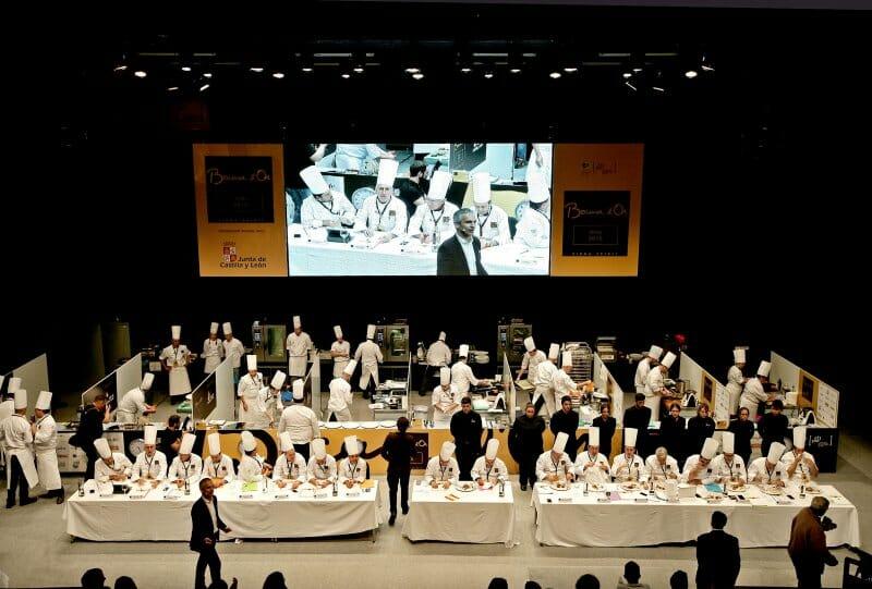 Concursantes y jurados del Bocuse d'Or en Valladolid