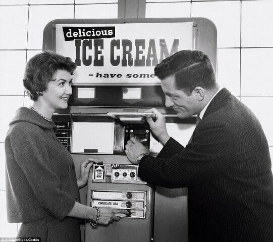 Imágen retrospectiva máquina vending