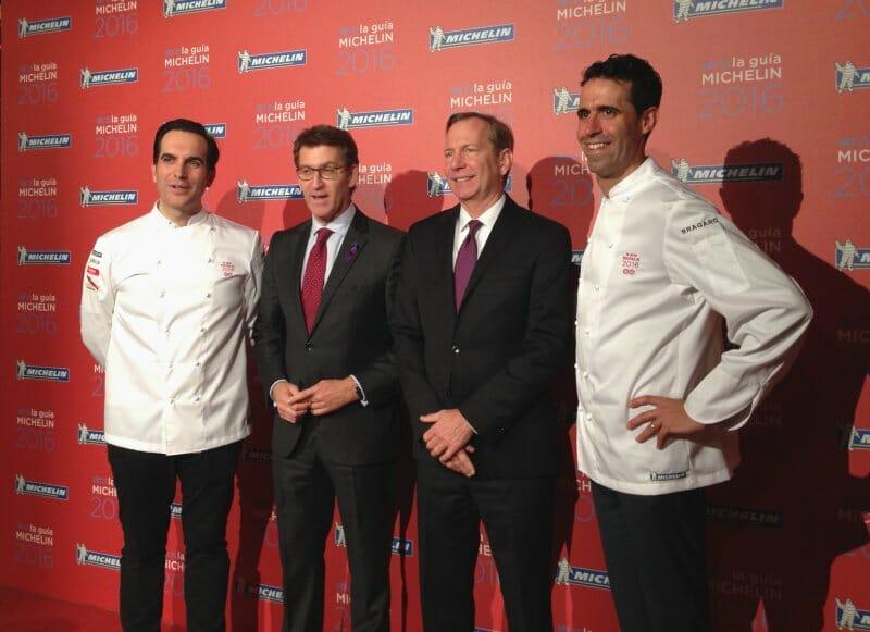 Sandoval y Arellano, junto con los presidentes de la Xunta y de la Guía Michelin