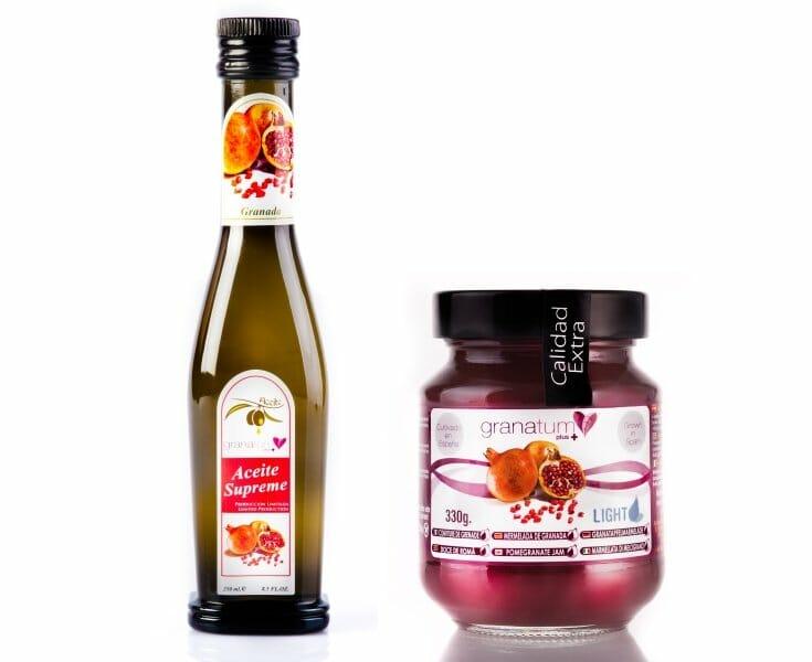Mermelada y aceite de oliva de granada: ¡Gratis!