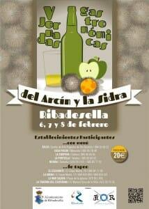 Cartel de las Jornadas Gastronómicas del Arcín y la Sidra