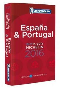 Portada de Guía Michelin 2016 de España y Portugal
