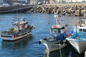Barcos de pescadores en Malpica