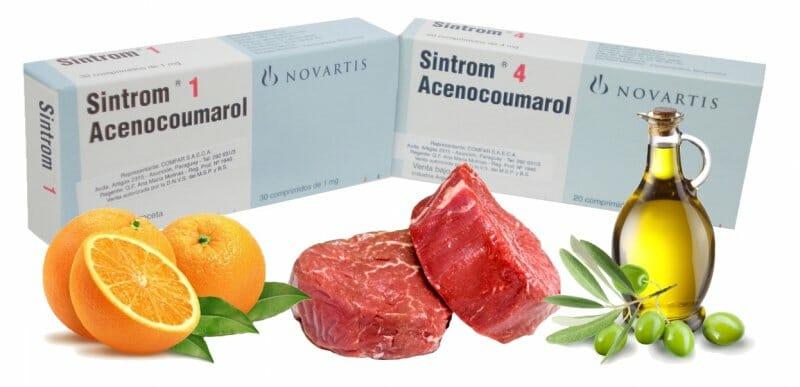 alimentos prohibidos para sintrom
