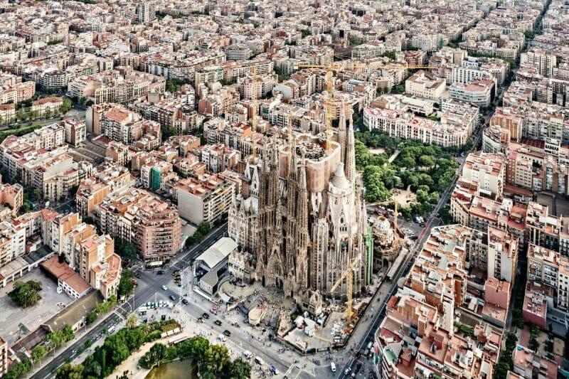 Vista aérea de Barcelona (Imagen: The New York Times)