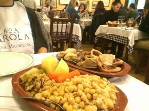 Casa Carola solo sirve cocido madrileño
