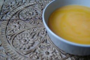 Puré de dorada con calabaza