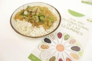 Plato de legumbres de Atul Kochhar