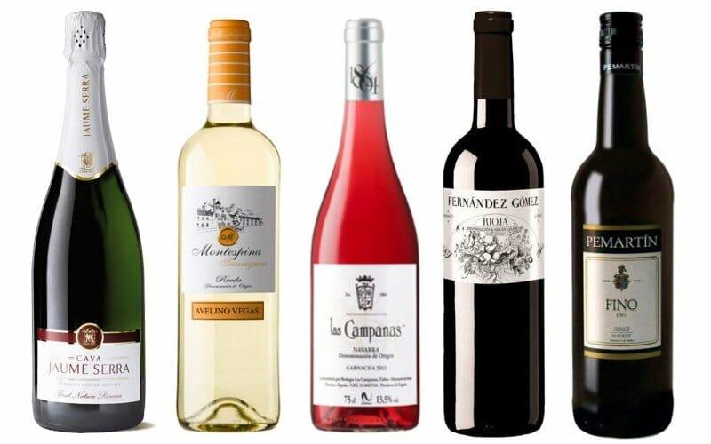 El top 5 de la lista de la Guía de Vinos Gourmets