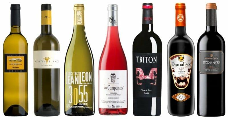 Los 7 primeros vinos de la lista
