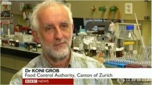 Koni Grob, científico de la Autoridad de Control de Alimentos de Zurich