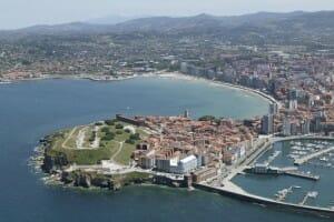 Gijón visto desde el aire