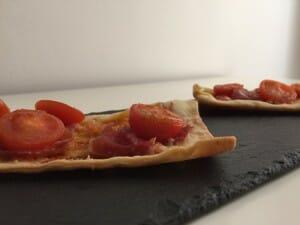 Min-pizzas ibéricas