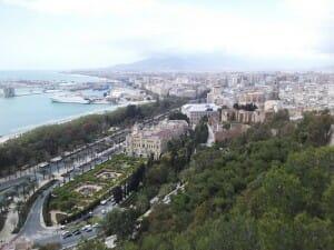 Vista de Málaga desde la alcazaba