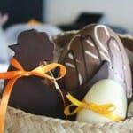 Huevos de Pascua de chocolate de Be Chocolat, con sorpresa personalizada