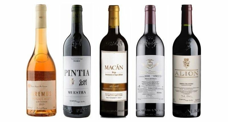 Algunos de los vinos que Vega-Sicilia presentó en Londres