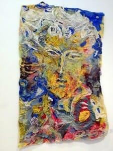 Obra de arte en la bodega Trivento