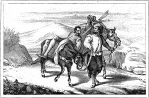 El ingenioso hidalgo con su escudero