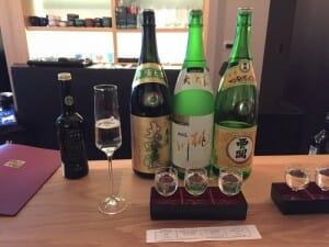 Cata de sake en Shuwa Shuwa
