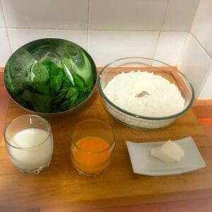 Ingredientes para hacer pasta fresca