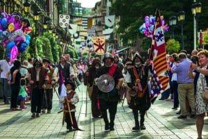 Desfile del San Bernabé por las calles de Logroño