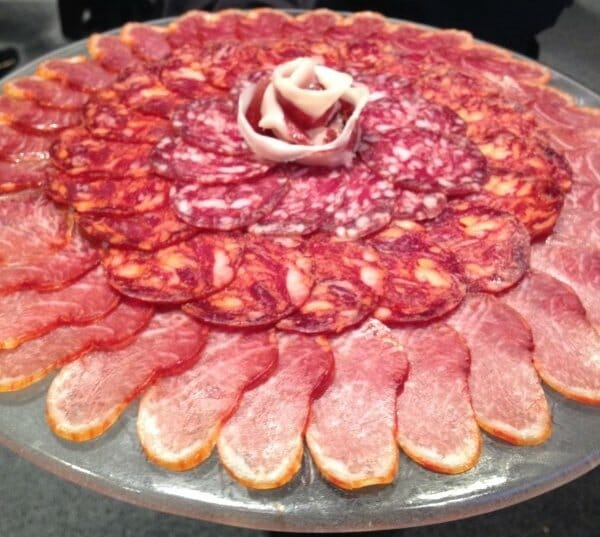 Plate of assorted Iberian cold cuts