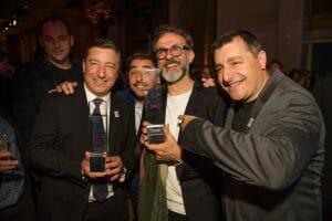 Massimo Bottura, junto a los Hermanos Roca en Nueva York