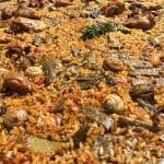 Valencian Paella, the authentic traditional home-made Spanish dish