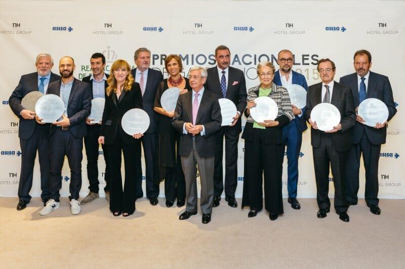 Foto de familia de los Premios Nacionales de Gastronomía 2015