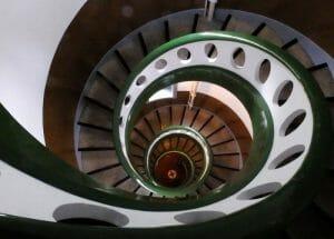 Escalera del faro de Ponta da Barca