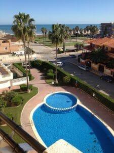 Vista desde un apartamento de Asetur en Playa de Xeraco