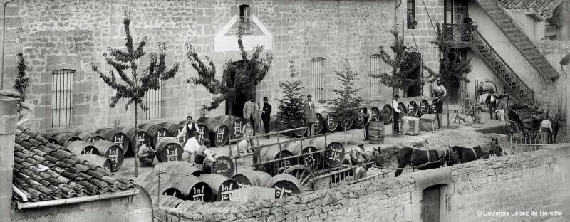 Imagen histórica de la Exposición de Viña Tondonia